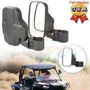 Rear View Mirror Set Utv Side Mirrors 1.75 - 2 Clamp Roll Cage For Polaris Rzr