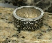 Pirate Coin Ring, Pieces Of Eight, Pure .999 Silver, A Predatory World, Handmade