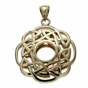 14k Yellow Gold Window To The Soul Scalloped Pendant By Keith Jack Ppg4808-14k-y