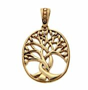 14k Yellow Tree Of Life Pendant By Keith Jack