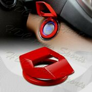 Universal Lambo Style Aluminum Engine Start Stop Button Decor Ring Trim Cover