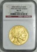 2006 50 American Gold Buffalo First Strikes Ms70 Ngc 942988-10