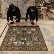 Yilong 4and039x6and039 Vintage Silk Hand Knotted Garden Area Rug Four Seasons Carpets 964b
