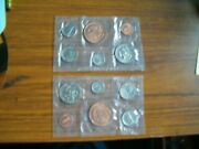 2 1981 Us Mint Sets-brilliant Uncirculated Coins-mint In Phila.ea. W/5 Coins And