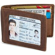 Premium Leather Money Clip Card Holder Wallet For Men, Rfid Mens Clothing Store