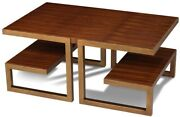 Cocktail Table Scarborough House Rosewood Brass Steel Modern Minimal