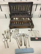 1 Lot Of Silver Plate 1847 Rogers Bros. Silverware 105 Pieces