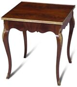 Side Table Scarborough House Regency Crotch Mahogany Brass Molding