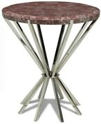 Scarborough House Occasional Table Mauve Stone Inlaid Crazy Cut Steel 8 Leg