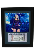 Framed Display For Your Taylor Swift Ticket/stub-includes Photo And Ticket Holder