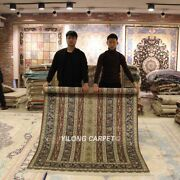 Yilong 5and039x7and039 Floral Handmade Sheen Silk Carpets Dining Room Silk Area Rugs S156a