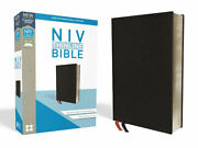 Niv Thinline Bible Bonded Leather Black Indexed Red Letter Edition