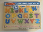 New Melissa And Doug Abc Wooden Sound Puzzle