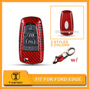 Real Carbon Fiber Key Fob Case Cover Shell For Ford Expedition Explorer Mustang