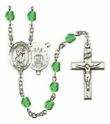 August Birth Month Prayer Bead Rosary With Saint Christopher Air Force Centerpie