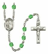 August Birth Month Prayer Bead Rosary With Saint Theresa Centerpiece, 19 Inch