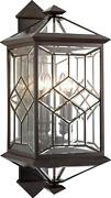 Oxfordshire Wall Sconce 4-light Dark Bronze Patina Beveled Leaded Glass Me
