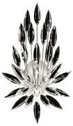 Lily Buds Sconce Wall 3-light Silver Leaf Metal Faceted Crystal Brass Bro