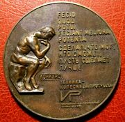 The Thinker Naked Man Seated On A Rock Armenian Large Medal