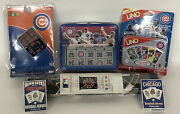Chicago Cubs Game Lot Darts, Cards, Uno, Rubik's Cube, Dominoes 6 Items