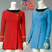 Cosplay St Female Duty The Original Series Blue Uniform Tos Red Dresses Costumes