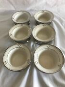 Hand Painted Royal Rochester/buffalo Pottery Inserts With Stainless Steel Holder