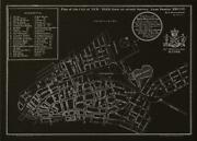 Wall Art Print Inspired By An Original New York Plan Dated 1775 Nyc Map