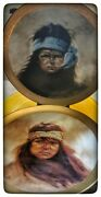Apache Boy Apache Girl Plates. From The Original Work Of Gregory Perillo