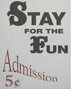 Wall Art Print Carnival Inspired By A Vintage Sign 38x47 White Gray Brass P