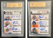 2012 Russell Wilson Rc Ryan Tannehill Rg3 Rookie Bgs 9.5 Auto 10 Andrew Luck 1/1