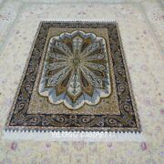 Yilong 4and039x6and039 Living Room Silk Rugs Handmade Carpet Traditional Hand Knotted 113a