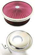 14 X 4 Flow Through Air Cleaner Kit With Washable Filter Offset Base 5 Stud
