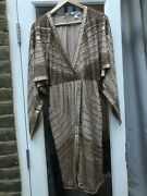 All Over Sequin Wrap Cape Sleeve Midi Dress Bnwot Rrp Andpound300