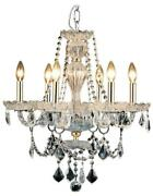 Giselle Chandelier Transitional Gold Black Glass Steel Wire Royal-cut Cr