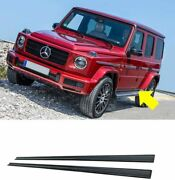 G Wagon Style Carbon Fiber Entrance Moldings Side Skirts Fit Mercedes W464 W463a