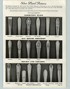 1940 Paper Ad Silver Plated Flatware Many Patterns Community Plate 1847 Rogers