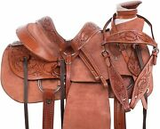 Wade Tree A Fork Premium Western Leather Roping Ranch Work Horse Riding Saddle.