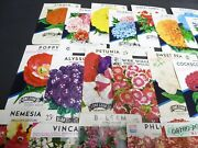30 Diff Vintage Seed Packet Lot 1930s-1970 Flowers Garden Texas General Store A2