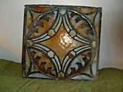Antique Stained Glass Panel 14 X 14