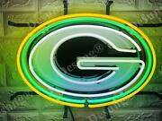 New Green Bay Packers Beer 20x16 Neon Light Sign Lamp Hd Vivid With Dimmer