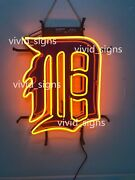 New Detroit Tigers Beer 20x16 Neon Light Sign Lamp Hd Vivid With Dimmer