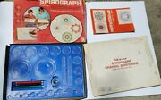 1967 Kenner's Spirograph Set Almost Complete W/ 3 Pens Andpins And Instructions