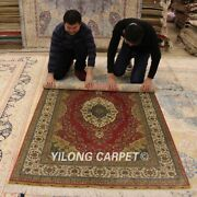 Yilong 4and039x6and039 Classic Silk Area Rug Handmade Home Decor Carpet Hand Knotted 0692