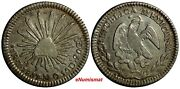 Mexico First Republic Silver 1857 Zs Mo 1 Real Zacatecas Mint Km 372.10 14 390