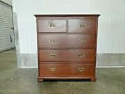 Charming 19th C English 2 Part English Campaign Chest With Brass Hardware