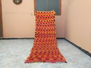 Handmade Vintage Moroccan Rug2and03923 X 7and03967 Feetboujaad Checkered Berber Carpet