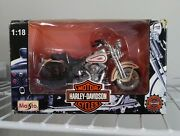 Harley Davidson Scale Model Motorcycles Slightly Used In Box And Plastic Capsule