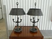 Pair Of Labeled Bronze Maitland Smith Bouilette Lamps
