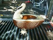 Chic And Elegant Duck W Silver Plated Head And Interior Fittings W Wooden Body