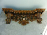 Incredible 18th C Peruvian Inca Period Spanish Colonial Shelf With Angels Head
